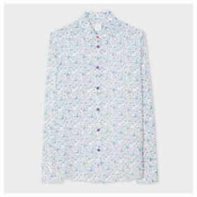 Women's White 'Saturn Floral' Print Shirt
