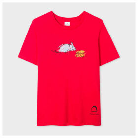 Women's Red 'Year Of The Rat' Print Cotton T-Shirt