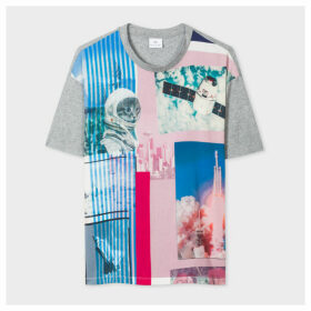 Women's 'Space Collage' Print T-Shirt