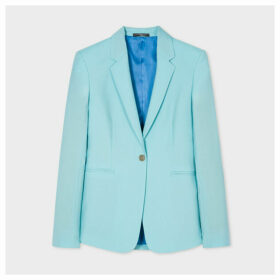 Women's Mint One-Button Wool-Mohair Blazer