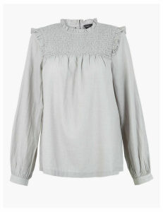 M&S Collection Pure Cotton Smock Blouse