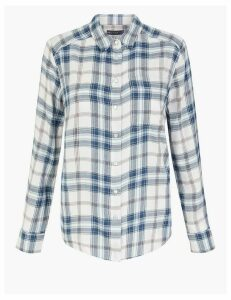 M&S Collection Checked Cosy Shirt
