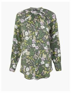 M&S Collection Floral Longline Blouse