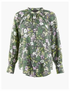 M&S Collection PETITE Floral Longline Blouse