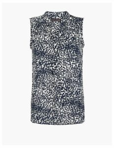 M&S Collection Printed Bib Front Sleeveless Shell Top