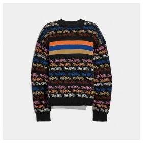 Coach Rainbow Horse And Carriage Crewneck Sweater
