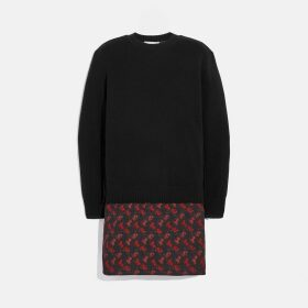 Coach Horse And Carriage Print Sweater Dress
