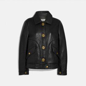Coach Bonded Leather Jacket