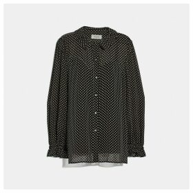 Coach Dot Georgette Blouse
