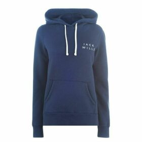 Jack Wills Hunston Back Graphic Hoodie - Navy