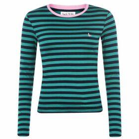 Jack Wills Lichford Long Sleeve Stripe T Shirt - Green