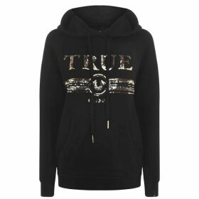 TRUE RELIGION True Sequin Hoodie - Black 4005