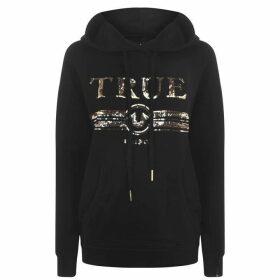 TRUE RELIGION True Sequin Hoodie - Black 4005