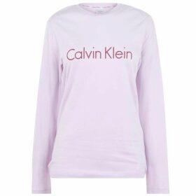 Calvin Klein Calvin Klein Logo Long Sleeve T Shirt Womens - OPAL PINK