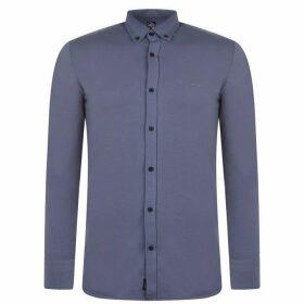 Fabric Long Sleeve Jersey Shirt Mens - Dk Grey