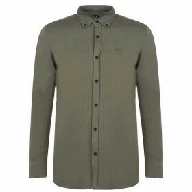 Fabric Long Sleeve Jersey Shirt Mens - Khaki