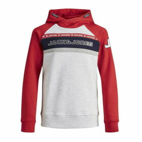 Jack and Jones Junior Colour Block Raglan OH Sweat - Chinese Red