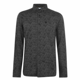 Soviet Floral Shirt Mens - Charcoal