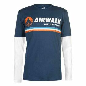 Airwalk Originals Layer T Shirt Mens - Navy
