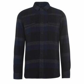 French Connection Dot Flannel Shirt Sn01 - Utility Blue