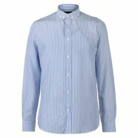 Pierre Cardin Bold Stripe Long Sleeve Shirt Mens - Blue/White