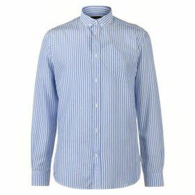 Pierre Cardin Bold Stripe Long Sleeve Shirt Mens - Blue/White