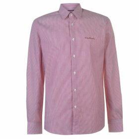 Pierre Cardin Long Sleeve Shirt Mens - Red/Wht Stripe