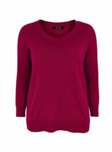 Plum V-Neck Jumper, Plum