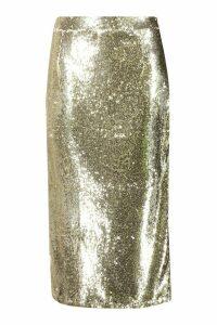 Womens Plus Sequin Longline Midi Skirt - Metallics - 24, Metallics