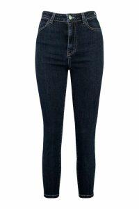 Womens Petite Mid Wash Bum Shaper Jeans - blue - 10, Blue