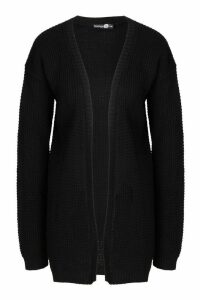 Womens Tall Edge To Edge Cardigan - black - S/M, Black