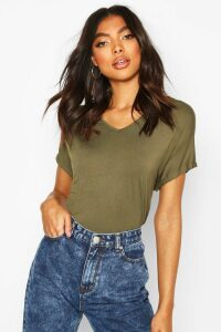 Womens Tall Scoop Neck Basic T-Shirt - green - 8, Green