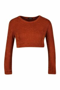 Womens Petite Chenille 2 In 1 Layered Shirt Jumper - orange - M, Orange