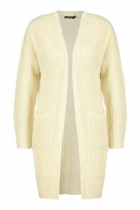 Womens Fisherman Edge To Edge Boyfriend Cardigan - Cream - M, Cream