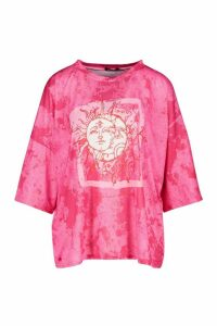 Womens Recycled Lunar Solar Graphic T-Shirt - Pink - 8, Pink