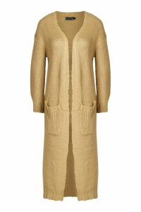 Womens Maxi Edge To Edge Cardigan - beige - M, Beige