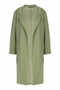 Womens Tailored Duster Coat - Green - 12, Green