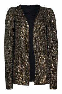 Womens Sequin Cape - Metallics - 12, Metallics
