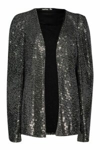 Womens Sequin Cape - Grey - 8, Grey