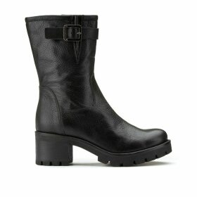 Mathis Leather Biker Boots