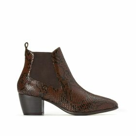 Eva Snake Print Leather Boots