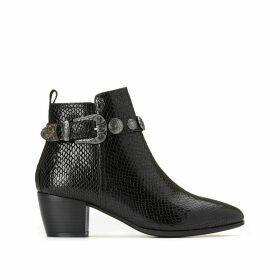 Evana Snake Print Boots