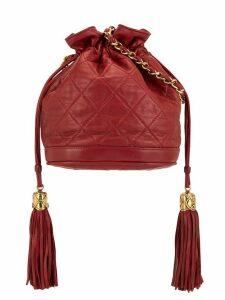 Chanel Pre-Owned 1990s tassel drawstring shoulder bag - Red