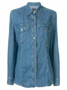 Versace Pre-Owned long sleeve denim shirt - Blue