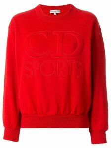 Christian Dior Pre-Owned Dior Sports quilted logo sweatshirt - Red