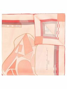 Hermès Pre-Owned silk Cheval de Courses scarf - PINK