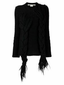 Comme Des Garçons Pre-Owned plaited jumper - Black