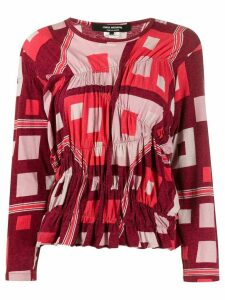 Junya Watanabe Comme des Garçons Pre-Owned 1990s patterned top - Red