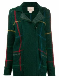 JC de Castelbajac Pre-Owned 1970s knitted check jacket - Green