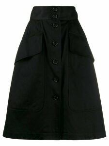 Yves Saint Laurent Pre-Owned 1970s A-line skirt - Black